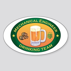Mechanical Engineer Team Oval Sticker