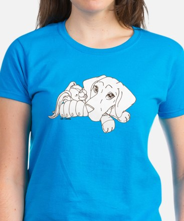 Bunny Puppy Women's Dark T-Shirt