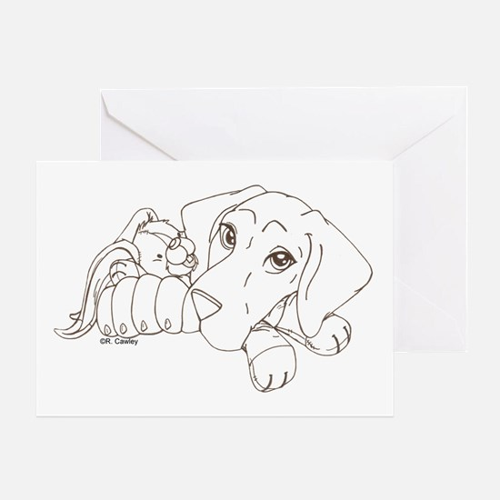 Bunny Puppy Greeting Card