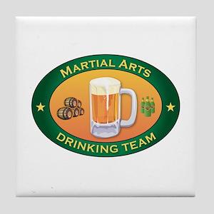 Martial Arts Team Tile Coaster