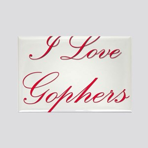 I Love Gophers Rectangle Magnet