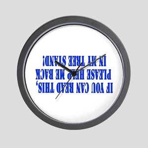 If you can read this hunting Wall Clock