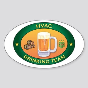 HVAC Team Oval Sticker