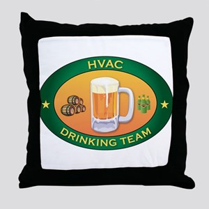HVAC Team Throw Pillow