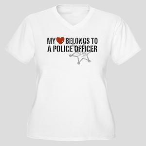 My Heart Belongs to a Police Officer Women's Plus