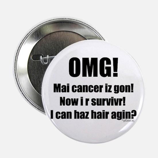 """I Can Haz Hair? 2.25"""" Button"""