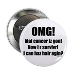 """I Can Haz Hair? 2.25"""" Button (100 pack)"""
