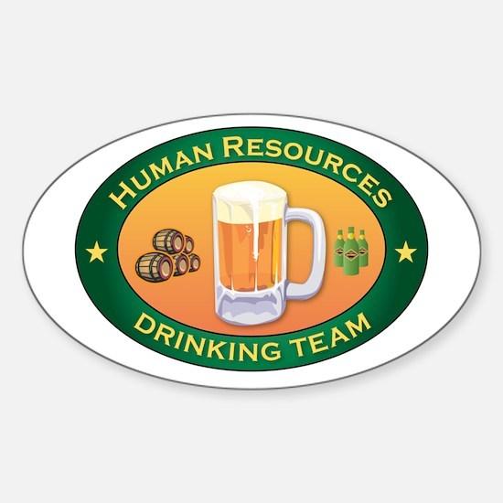 Human Resources Team Oval Sticker (10 pk)