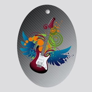 Guitar Fantasy Oval Ornament
