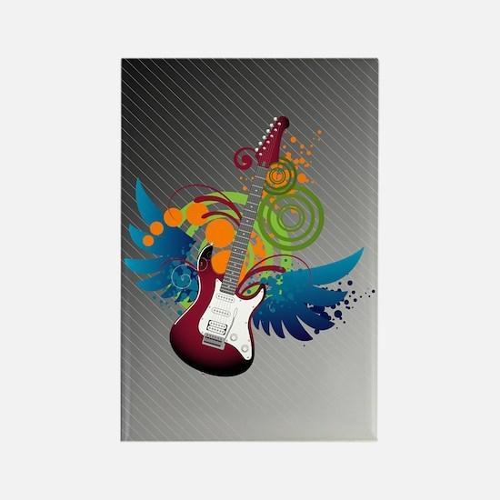 Guitar Fantasy Rectangle Magnet