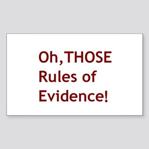 Rules of Evidence 2 Sticker (Rectangle)