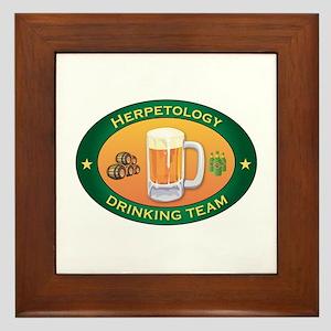 Herpetology Team Framed Tile