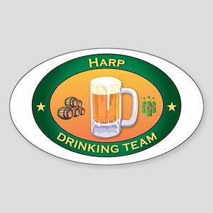Harp Team Oval Sticker