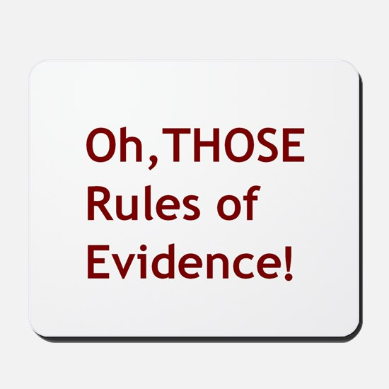 Rules of Evidence 2 Mousepad