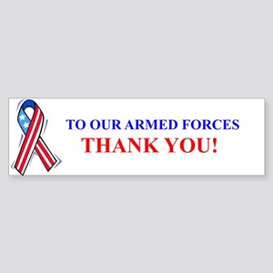 Thank You Armed Forces Bumper Bumper Sticker