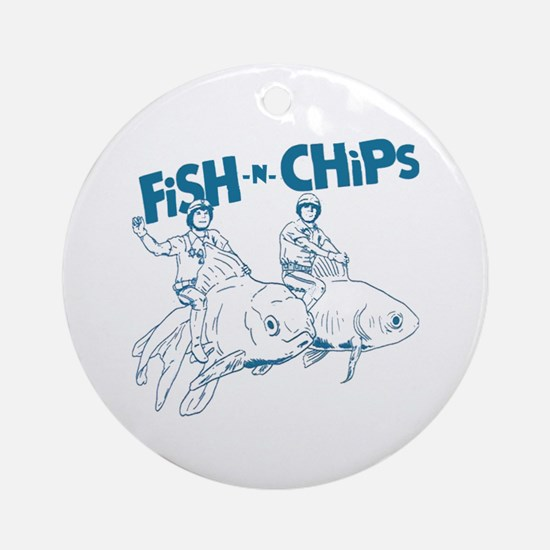 Fish n Chips Ornament (Round)