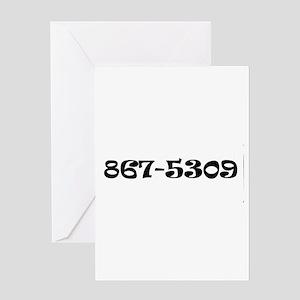 867-5309 Jenny Greeting Card