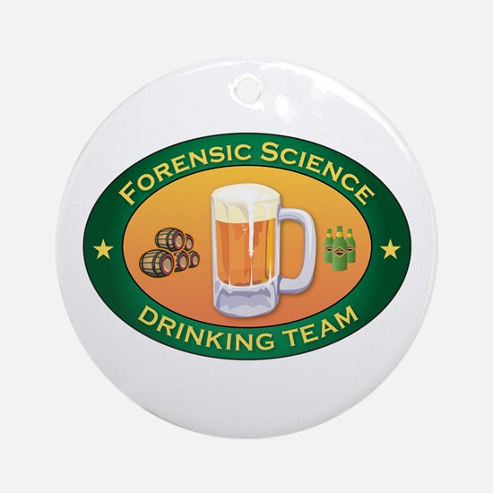 Forensic Science Team Ornament (Round)