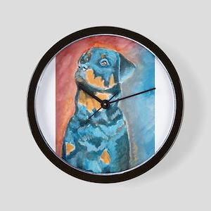 """""""Idol"""" a Rottweiler Wall Clock"""