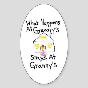 Granny's House Oval Sticker
