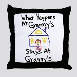 Granny's House Throw Pillow