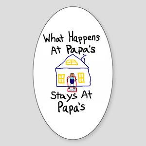 Papa's House Oval Sticker