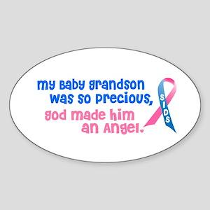 SIDS Angel 1 (Baby Grandson) Oval Sticker