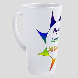 Equal Love 17 oz Latte Mug