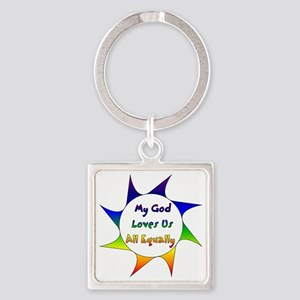Equal Love Square Keychain