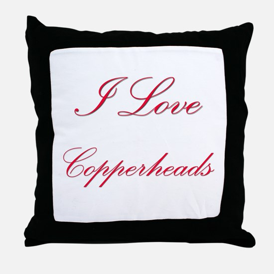 I Love Copperheads Throw Pillow