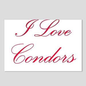 I Love Condors Postcards (Package of 8)