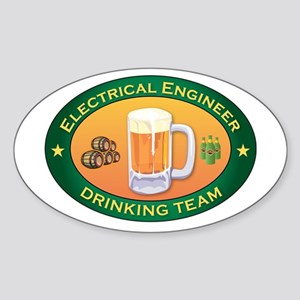Electrical Engineer Team Oval Sticker