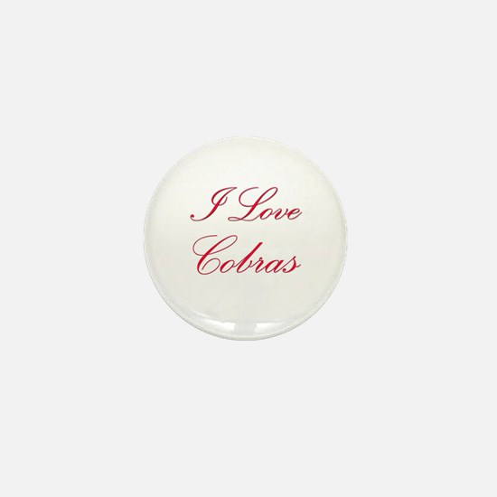 I Love Cobras Mini Button