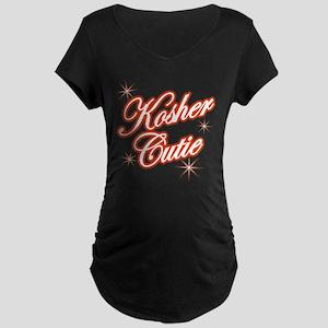 Kosher Cutie - red Maternity Dark T-Shirt