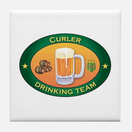 Curler Team Tile Coaster