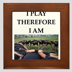 Rugby joke Framed Tile