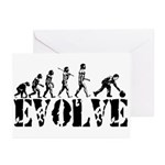 Bowling Bowler Evolution Greeting Cards (Pk of 20)