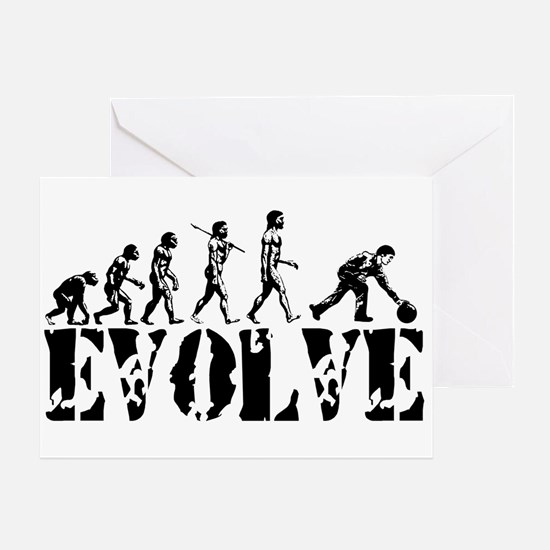 Bowling Bowler Evolution Greeting Card