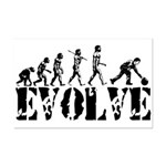 Bowling Bowler Evolution Mini Poster Print
