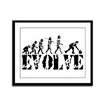 Bowling Bowler Evolution Framed Panel Print