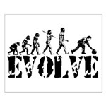Bowling Bowler Evolution Small Poster