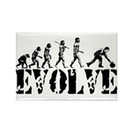 Bowling Bowler Evolution Rectangle Magnet