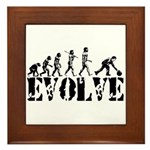 Bowling Bowler Evolution Framed Tile