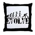 Bowling Bowler Evolution Throw Pillow
