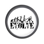 Bowling Bowler Evolution Wall Clock