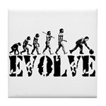 Bowling Bowler Evolution Tile Coaster