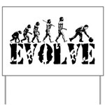 Bowling Bowler Evolution Yard Sign