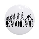 Bowling Bowler Evolution Ornament (Round)