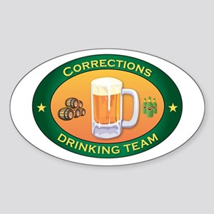 Corrections Team Oval Sticker