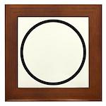 Circle Symbol Framed Tile